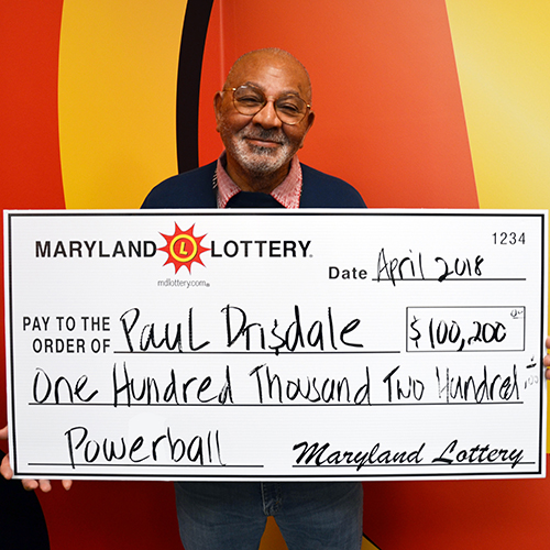 MD Powerball Winner Paul Drisdale
