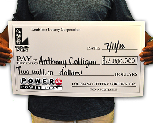 Louisiana Lottery Winner Anthony Colligan