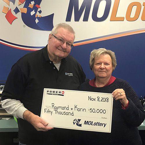 Missouri Lottery Winners Raymond and Karin Gawedzinski