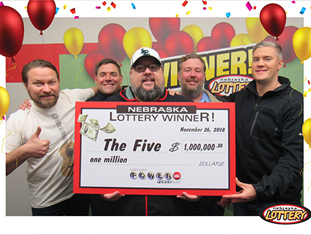 Douglas Murray, Felipe Osorio, Eric Cobb, Chris Hinkley and Yevgeniy Koval won $1 million playing Powerball from the Nebraska Lottery!