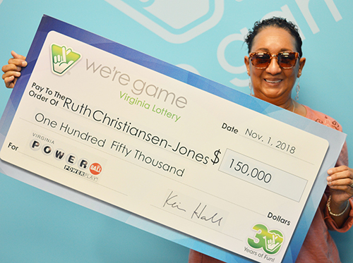 Virginia Lottery Powerball Winner Ruth Christiansen-Jones