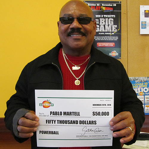 Georgia Lottery Powerball Winner Pablo Martell