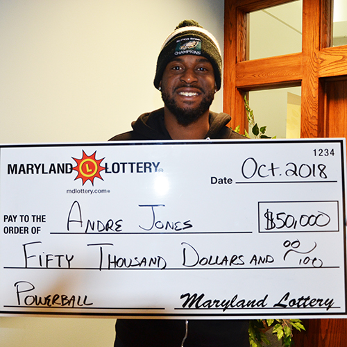 Maryland Lottery Powerball Winner Andre Jones
