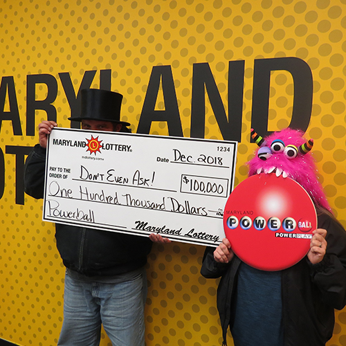 Maryland Lottery Powerball Winners Don't Even Ask