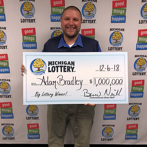 Michigan Lottery Powerball Winner Adam Bradley