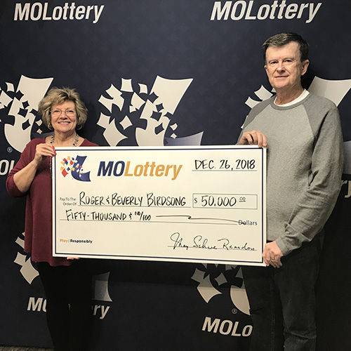 Missouri Lottery Winners Roger and Beverly Birdsong