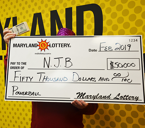 Maryland Lottery Powerball Winner NJB